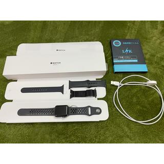 アップルウォッチ(Apple Watch)のAPPLE WATCH3 38mm スペースグレイ バッテリー100%(腕時計(デジタル))