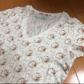 ローラアシュレイ(LAURA ASHLEY)のLAURAASHLEY×UT花柄VネックT(Tシャツ(半袖/袖なし))
