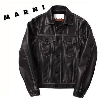 マルニ(Marni)のMARNI レザージャケット マルニ 定価252,000円(レザージャケット)