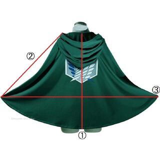 進撃の巨人 フード付きマント+ネックレス+地下室の鍵 3点セット 調査兵団(L)(衣装一式)