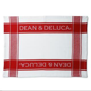 ディーンアンドデルーカ(DEAN & DELUCA)の新品 DEAN & DELUCA ティータオル  レッド(収納/キッチン雑貨)