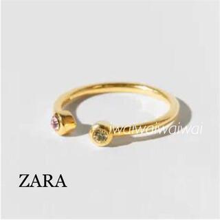 ザラ(ZARA)の新品 ZARA スターリングシルバー 24K ゴールドメッキ リング(リング(指輪))