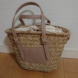 しまむら - 新品未使用☆しまむら購入☆かごバッグミニサイズ☆ベージュ