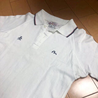 エビス(EVISU)のEVISU×マンシングウェアホワイトコットンポロ(ポロシャツ)