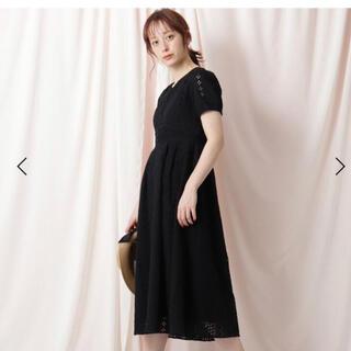クチュールブローチ(Couture Brooch)のカットワークレースフィットアンドフレアワンピ(ロングワンピース/マキシワンピース)