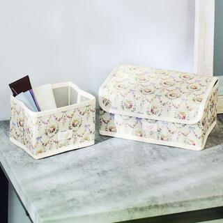 Maison de FLEUR - メゾン ド フルール 花柄収納ボックス 2個セット