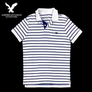 アメリカンイーグル(American Eagle)のアメリカンイーグル / ポロシャツ / US Sサイズ 白(ポロシャツ)