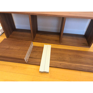 ムジルシリョウヒン(MUJI (無印良品))の無印良品 スタッキングシェルフ 3段×2列 ウォールナット(棚/ラック/タンス)
