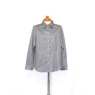 ニューヨーカー(NEWYORKER)の美品 送料無料! ニューヨーカー グレー コットン シャツ 44 日本製(シャツ/ブラウス(長袖/七分))