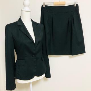 green label relaxing - グリーンレーベルリラクシング  スカートスーツ セットアップ ブラック サイズL