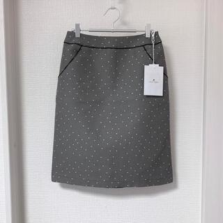 クレージュ(Courreges)のクレージュ❤️美品❤️大人可愛いコットン台形ドットスカート (ひざ丈スカート)