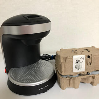 フランフラン(Francfranc)の【新品 未使用】レコルト コーヒーメーカー カフェデュオ 黒(コーヒーメーカー)