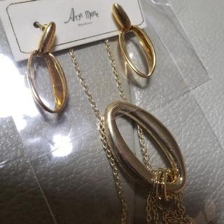 アネモネ(Ane Mone)のアネモネ anemone gold ゴールド ピアス ネックレス セット (ピアス)
