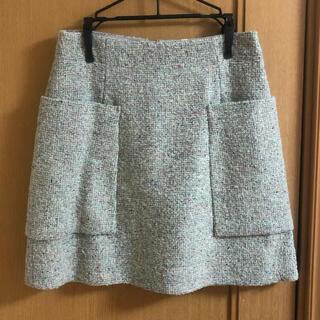 コス(COS)の【COS】ツイード台形スカート 34サイズ(ミニスカート)