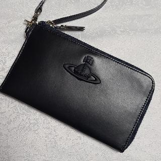 Vivienne Westwood - ヴィヴィアンウエストウッド ラバーカラーORBネイビー L字ファスナー財布