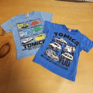 タカラトミー(Takara Tomy)の専用☆トミカ 水色半袖Tシャツ2枚セット 100cm(Tシャツ/カットソー)