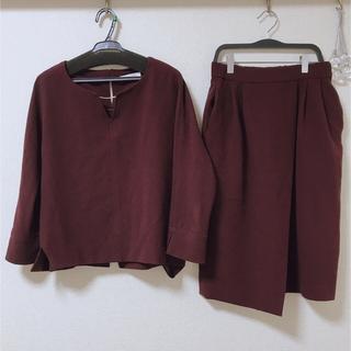 IENA - 【CLASSY.コラボ】スリットネックブラウスxタイトスカート セットアップ36
