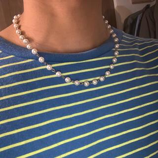 キャピタル(KAPITAL)のパールネックレス pearl necklace 8mm(ネックレス)