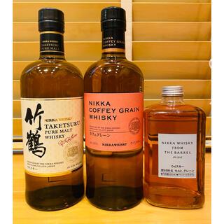 ニッカウイスキー(ニッカウヰスキー)の【送料込】ニッカウヰスキー 3本セット(ウイスキー)