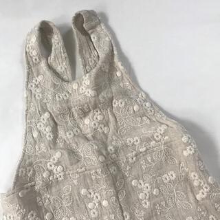 ハンドメイド リネン刺繍のサロペット 100(パンツ/スパッツ)