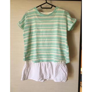 レディーストップス ボーダーTシャツ(Tシャツ(半袖/袖なし))