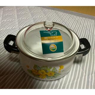 象印 - 新品未使用 象印 ファインホーロー鍋 サイズ20センチ