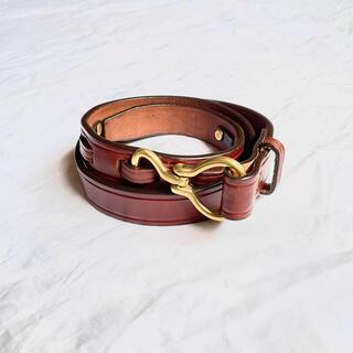 ワンエルディーケーセレクト(1LDK SELECT)のtory leather トリーレザー フック ベルト 30インチ ブラウン 茶(ベルト)