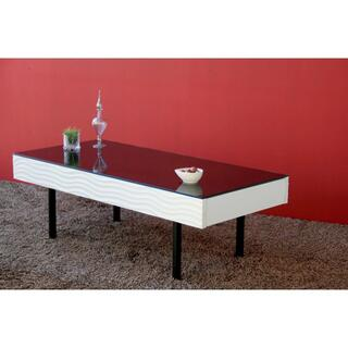 センターテーブル リビング テーブル 幅105cm おしゃれ 白黒(ローテーブル)