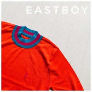 イーストボーイ(EASTBOY)のタグ付き!未使用!EASTBOY イーストボーイ サマーニット 半袖 オレンジ(Tシャツ(半袖/袖なし))