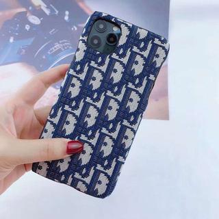 クリスチャンディオール(Christian Dior)の美品iPhoneケース ネイビー 紺色(iPhoneケース)