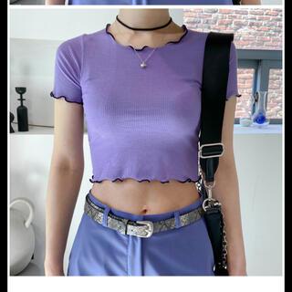 ゴゴシング(GOGOSING)のbinary01 半袖 クロップド Tシャツ 韓国(Tシャツ(半袖/袖なし))