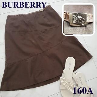 バーバリー(BURBERRY)のBURBERRY LONDON ミニスカート 茶 レディース 服 フレアスカート(ミニスカート)