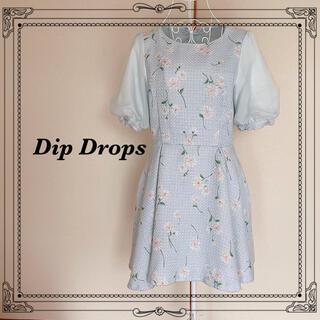 ディップドロップス(Dip Drops)の(  Dip Drops )花柄 半袖ワンピース(ひざ丈ワンピース)