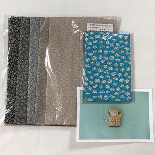 check&stripe  リトルマーガレット カットクロス 50×50 5色(生地/糸)