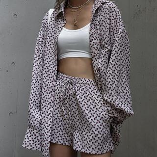 ACLENT Geometry loose shirt/pants(セット/コーデ)
