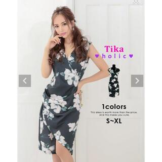 デイジーストア(dazzy store)のtika  ティカホリック  花柄ドレス ドレス(ミディアムドレス)