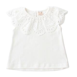 プティマイン(petit main)のプティマイン スカラップレース衿Tシャツ カットソー(Tシャツ/カットソー)