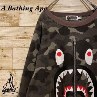 アベイシングエイプ(A BATHING APE)の《シャーク》Bathing Ape アベイシングエイプ スウェット XL☆迷彩(スウェット)