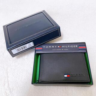 TOMMY HILFIGER - 新品 トミーヒルフィガー Tommy 二つ折り財布 ブラック 札入 コインケース