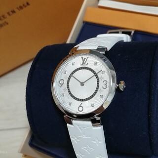 ルイヴィトン(LOUIS VUITTON)の定価44万円☆ルイヴィトン タンブールスリムMM レディース腕時計(腕時計)