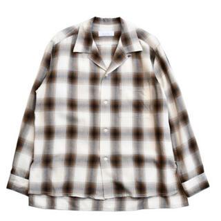 フィーニー(PHEENY)のpheeny  Rayon ombre check shirt brown(シャツ/ブラウス(長袖/七分))