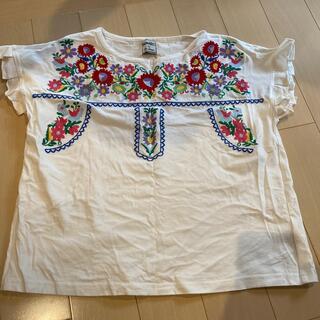 パラビオン(Par Avion)の花柄刺繍Tシャツ【パラビオン】(Tシャツ(半袖/袖なし))