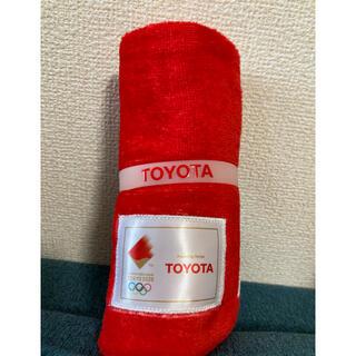 トヨタ(トヨタ)のTOYOTA オリンピック タオル(タオル/バス用品)