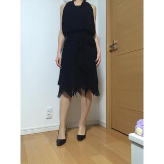 ロートレアモン(LAUTREAMONT)の ロートレアモン パーティードレス フォーマル ワンピース ブラック(ミディアムドレス)