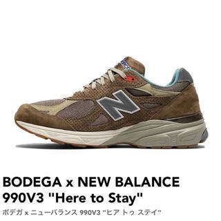 ニューバランス(New Balance)のBODEGA x NEW BALANCE 990V3 27cm(スニーカー)