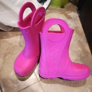 クロックス(crocs)のクロックス 長靴 J1 ピンク 19cm 20cm(長靴/レインシューズ)