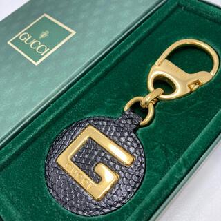 Gucci - 美品 GUCCI オールドグッチ キーホルダー キーリング バッグチャーム 箱付