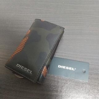 ディーゼル(DIESEL)の新品 DIESEL 本革 レザー キーケース キーリング カモフラ B級品 ③(キーケース)