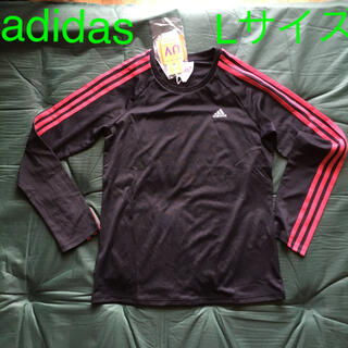 アディダス(adidas)のタグ付き adidas UV 長T 黒色 Lサイズ(シャツ/ブラウス(長袖/七分))