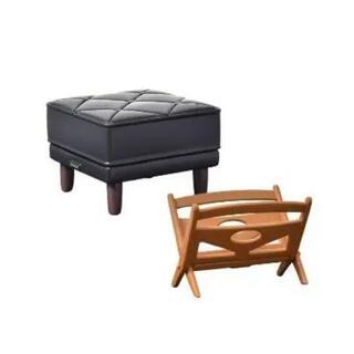 カリモクカグ(カリモク家具)のカリモク60 2 ガチャ オットマン、マガジンラックセット(その他)